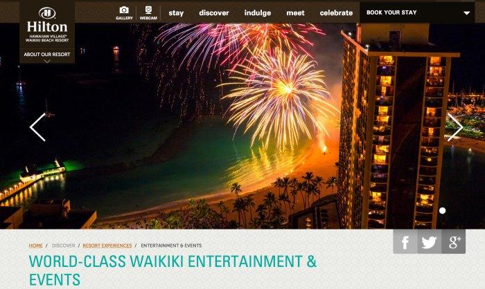 4th of July Fireworks 2015 Honolulu and Oahu Hilton Hawaiian Village