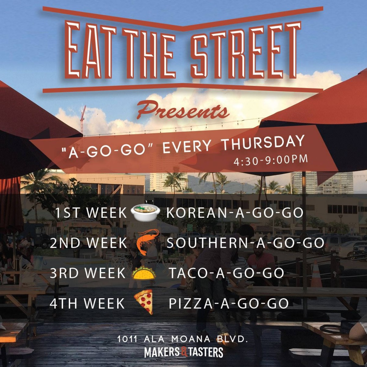 eat the streets at go-go every thursday